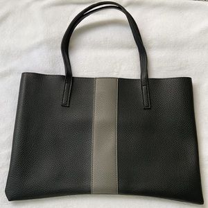 Vince comuto pebbled vegan leather tote bag